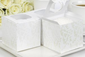Pearl Flourish Cupcake Favor Boxes (Set of 25) image