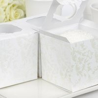 Pearl Flourish Cupcake Favor Boxes (Set of 25)