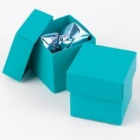 Mix and Match Two Piece Palm Blue Favor Boxes (Set of 25)