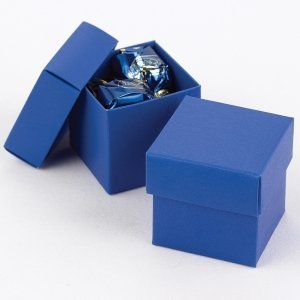 Mix and Match Two Piece Royal Blue Favor Boxes (Set of 25) image