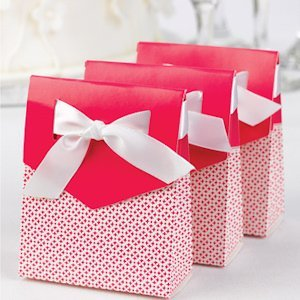 Fuchsia and White Tent Favor Boxes (Set of 25) image