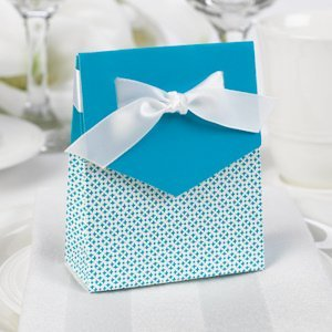 Palm Blue and White Tent Favor Boxes (Set of 25) image