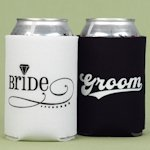 Bride and Groom Can Koozies