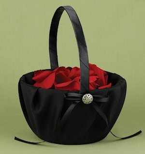 Midnight Rendezvous Black Flower Girl Basket image