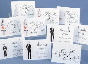 Bridal Party Thank You Cards (Set of 30) image