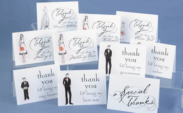 Thank You Gifts For Wedding Party: Bridal Party Thank You Cards (Set Of 30