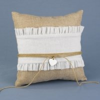 Rustic Romance Ring Bearer Pillow