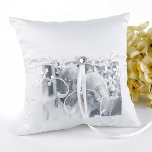 Memorial Ring Pillow with Photo Pocket image