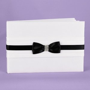 Refined Romance Black and White Guest Book image