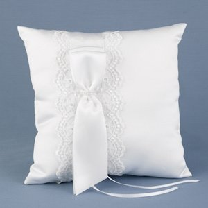 Lace Allure Ring Bearer Pillow image
