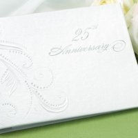 Swirl Dots 25th Wedding Anniversary Guest Book