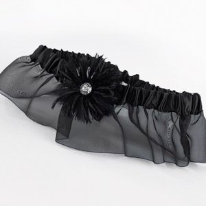 Black Feathered Flair Garter image