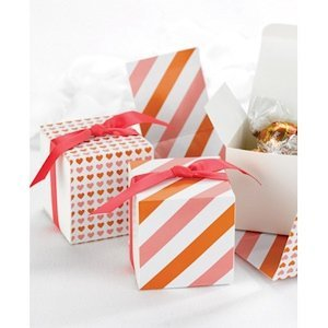 Orange and Pink Reversible Hearts Wrap Boxes (Set of 25) image