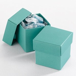 Mix and Match Two Piece Jade Favor Boxes (Set of 25) image