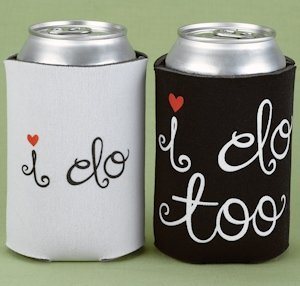 I Do & I Do Too Wedding Can Cooler Set image