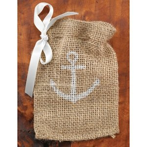 Anchor Burlap Favor Bags (Set of 25) image