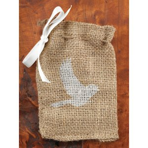 Bird Burlap Favor Bags (Set of 25) image