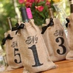 Burlap Table Number Wine Bags (Set of 10)