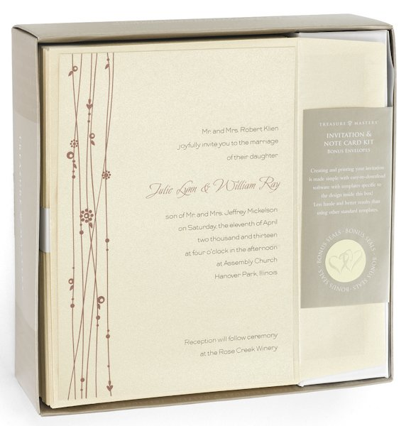 Target Wedding Invitations: Red Vines Do It Yourself Wedding Invitation Kit (Set Of 50