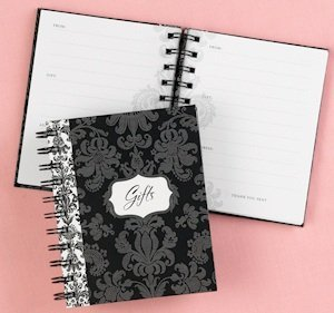 Damask Bridal Shower Gift Record Book image