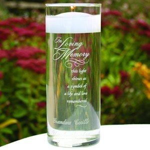 In Loving Memory Glass Cylinder image
