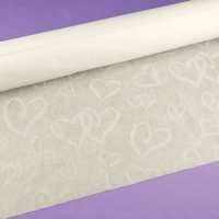 Linked Heart Wedding Aisle Runner (Ivory or White)