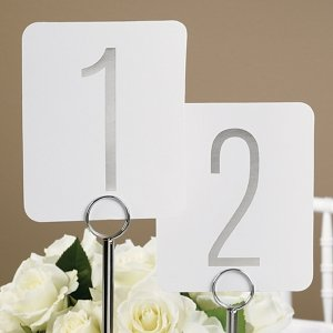 Silver Foil Table Number Set image