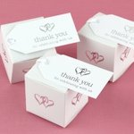 Linked Hearts Wedding Favor Thank You Tags (Set of 25)