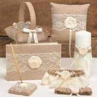 Rustic Country Wedding Accessory Set
