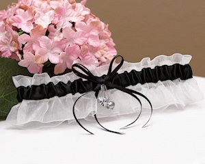 Black and White Hearts Desire Garter image