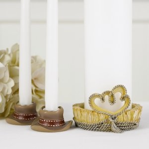 Country Flair Wedding Unity Candle Stands (Set of 3) image