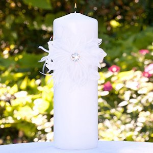 Feathered Flair Unity Candle image