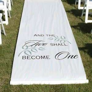 And The Two Shall Become One Aisle Runner image