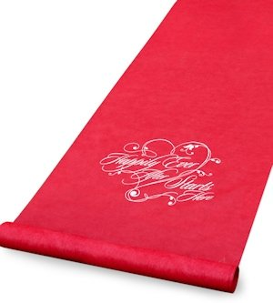 Happily Ever After Red Wedding Aisle Runner image