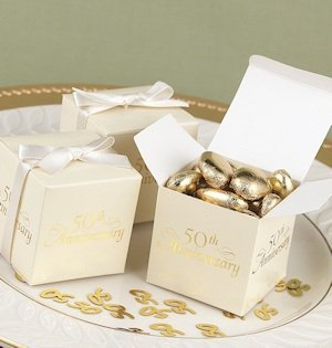 50th Anniversary Party Favor Boxes (Set of 25) image