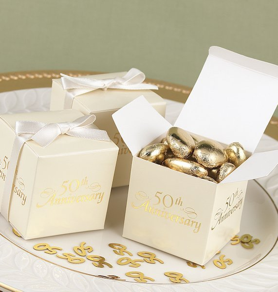 50 Wedding Anniversary Party Ideas: 50th Anniversary Party Favor Boxes (Set Of 25