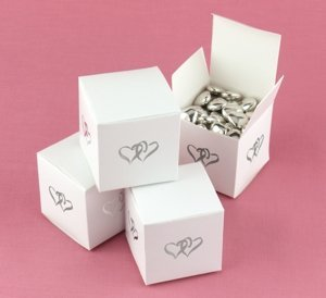 Linked Hearts Favor Boxes for Weddings (Set of 25) image