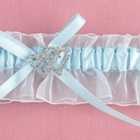 With All My Heart Blue Garter