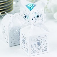 Square Filigree Favor Boxes (2 Colors - Set of 25)