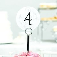 Round Table Number Cards with Filigree Background