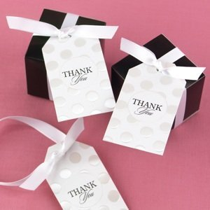 Embossed Dots Thank You Tags for Favors (Set of 25) image