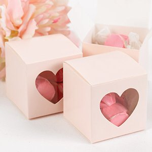 Pink Heart Window Favor Boxes (Set of 25) image