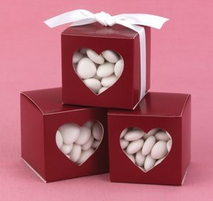 Merlot Heart Window Favor Boxes (Set of 25) image