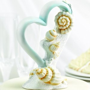 Seaside Jewels Beach Themed Wedding Cake Topper image