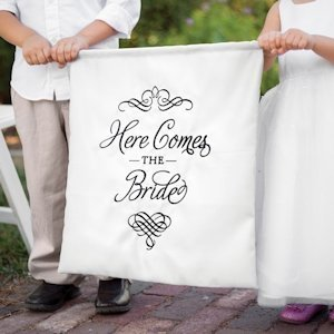 Elegant Here Comes the Bride Sign image