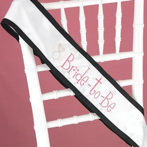 Hot Pink with Black Trim Bride to Be Sash image