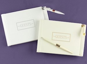 Small Guest Book Set (White or Ivory) image