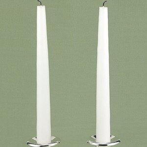 Taper Candle Pair (White or Ivory) image