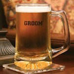 Personalized Glass Groom Beer Mug