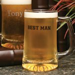 Personalized Glass Best Man Beer Mug